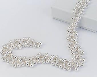 Bright Silver 4mm Ball Cluster Chain #CC108