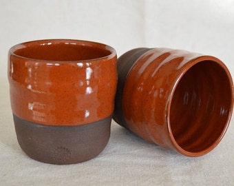 tumblers, drinkware, drinking pottery, red pottery, cups, water cup, tea cup, liqueur cups, red cups