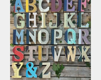 Vintage Reader's Digest upcycled book letters and ampersand