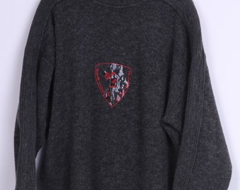 Ackermann Mens 52/54 2XL Jumper Sweater Grey Periodi Galaciali