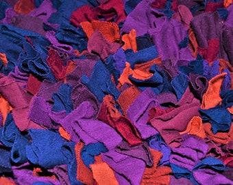 75x50cm handmade rag rug made from recycled fabrics