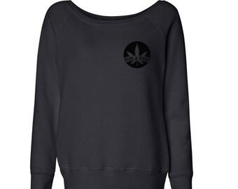 Buds & Roses Off The Shoulder Logo Sweatshirt