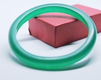 Resin bangle green,hand made resin bangle, green bangle, gift for her
