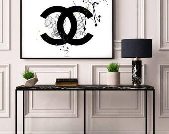 Poster Chanel, Art Print, Poster, Wall Art, Fashion Prints, Chanel Logo