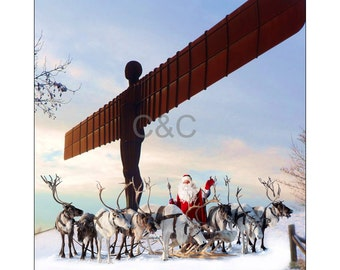 North East, Newcastle themed Christmas, xmas cards