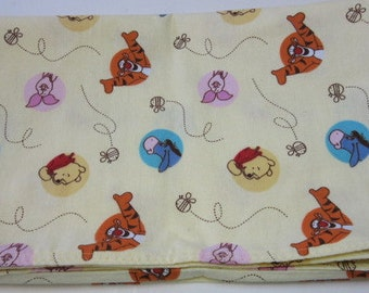 Winnie the Pooh Blanket, Baby Receiving Blanket, Swaddle Blanket, 100 percent Cotton, 32x41, Disney, Lightweight, Bed Sheet, Throw, Layer