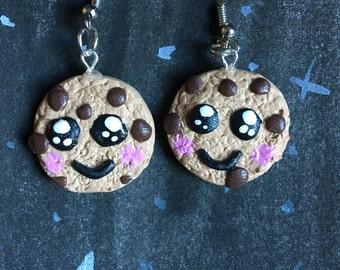 Kawaii Chocolate Chip Cookie Earrings