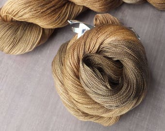 Brilliant Copper - Hand Dyed Silk Lace Yarn