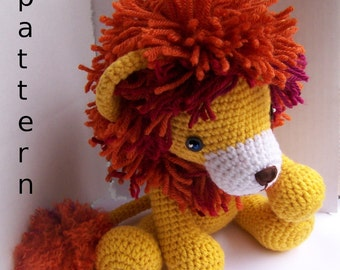 Instant Download Crochet Pattern-Baby Lion-Toy Lion-Amigurumi Lion-DIY Crochet Toy-Stuffed Toy Animal-Crochet Stuffed Lion