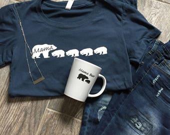 New Mama Bear Shirt Birthday Gift Mother's Day Gift Mama Shirt Mama Multiple Cubs Shirt For Mama Bear Christmas Gift for Mom