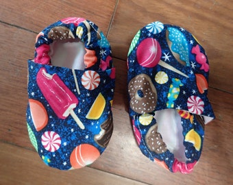 Sweets print crib shoes