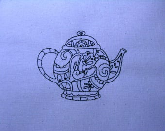 Decorative Teapot 003 4x4