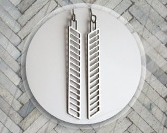 Stainless steel chevron earrings