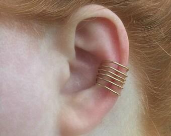 Simple Delicate Ear Cuffs, Simple Ear Cuff, Custom Made to Order, Silver, Brass, or Copper Ear Cuffs, Earcuff Pair or Single, Earcuffs