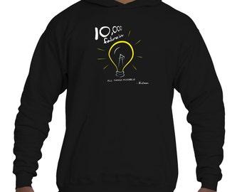Edison Lightbulb Motivational Men's Pullover Hoodie (XS-XXL)