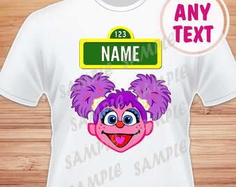 Name for Design Abby Cadabby. Head, Face Abby Sesame Street Digital File. Printable Iron on Transfer Family Birthday Shirts. Within 24 hours