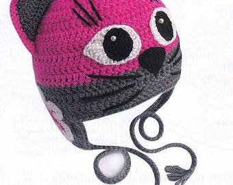 free shipping crochet cat hat