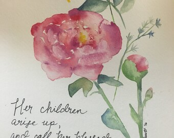 Mother's Day Peonies or Tulip print