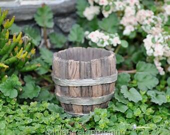 Barrel Planter for Miniature Garden, Fairy Garden