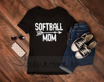 Distressed Softball Mom Tshirt, Softball Mom Shirt, Love Softball Tshirt, Womens Sports shirt, Softball  Shirt, Custom Softball