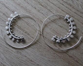 Pair of ethnic spiral earrings