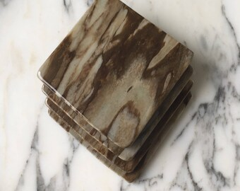 Natural Stone Coasters - Set of 4