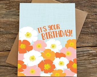 birthday card / poppies