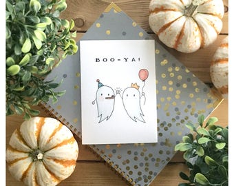 BooYa Card // pun card, congrats card, punny, congratulations card, high five, well done card, ghost card, boo card, boo, halloween card