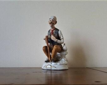 Vintage ARDCO Japanese, old man figurine.