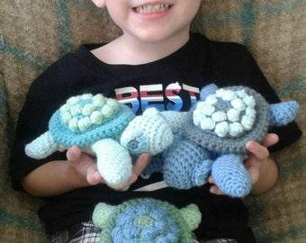 crochet sea turtle plush toy - choose your colors