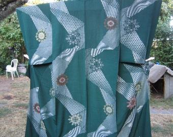 unique green kimono