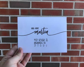 Custom Calligraphy Addresses for Special Events Style A