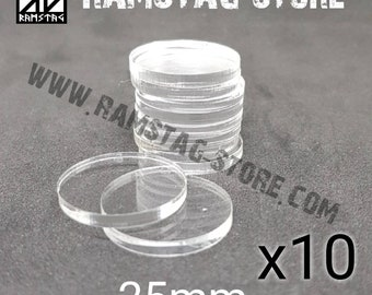 10 round D25mm acrylic bases