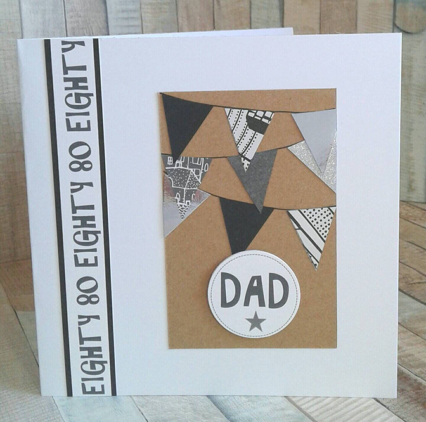 DAD 80th BIRTHDAY CARD Card For Birthday Cards Him