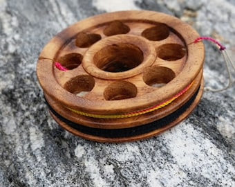 Limited Availability mango wood tenkara all in one, line spool and fly keeper