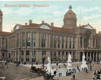 Municipal Building Birmingham, England, posted 1910.