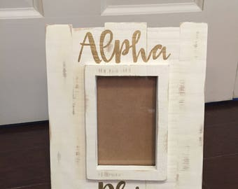 Personalized Distressed Picture Frame 4x6