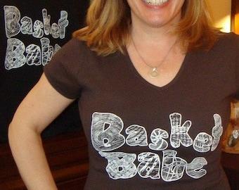Basket Babe T shirt Ladies Blue Black Red Grey Brown