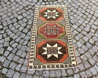 Vintage Turkish Oushak Rug, Oushak Rug 2x3, Turkish Rug Carpet, Carpet Rugs, Turkish Handmade Rugs, Carpet, Area Rugs, Vintage Carpet