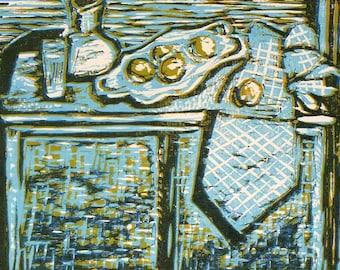 After Cezanne #2, Woodcut