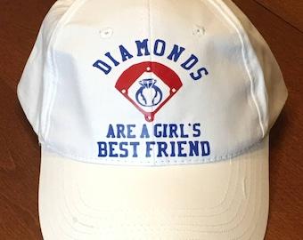 Diamonds Are a Girls Best Friend Baseball Hat // Bride or Bridesmaid // Bachelorette