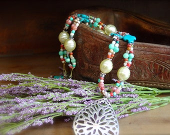 Western inspired, boho minded, southwest influenced cowgirl necklace*SPARROW* Free shipping-USA