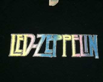 Led Zeppelin true vintage t shirt 1970's S