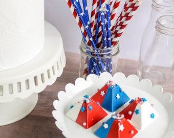 Patriotic Pyramid Chocolates- Fake candy, prop candy, party decor