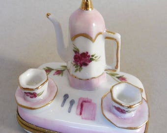 Pink Rose Tea Set Box