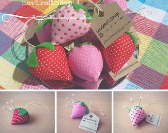 Cute strawberry pincushion