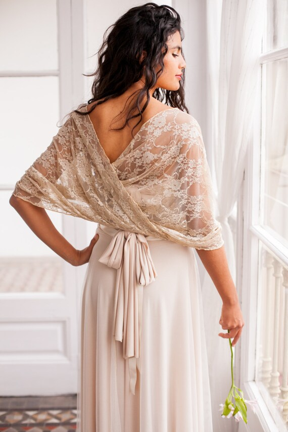 Wedding shawl wedding lace shawl wedding cover up lace for Shawls for wedding dresses