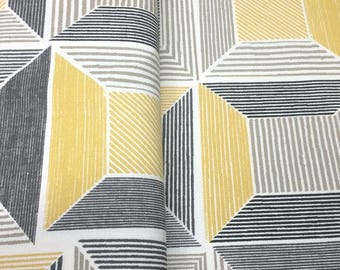 Yellow Squared - IKEA Birket Cotton Fabric