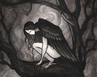 The Harpy_Ink Drawings_Inktober