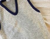 Gray knit ssweater vest /...